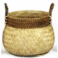 Basket Bamboo Natural - (D)46 x (H)35 cm