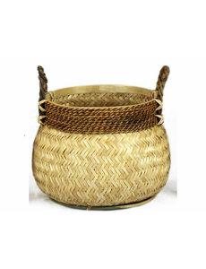 Van der Leeden Basket Bamboo Natural - (D)46 x (H)35 cm