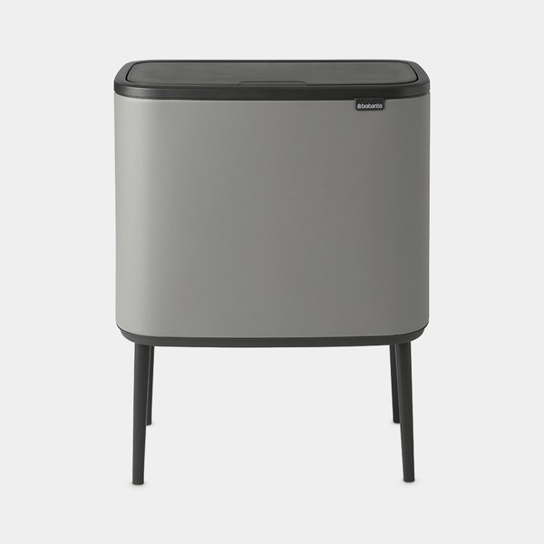 Brabantia Bo Touch Bin Afvalemmer - 11 + 23 liter - Mineral Concrete Grey