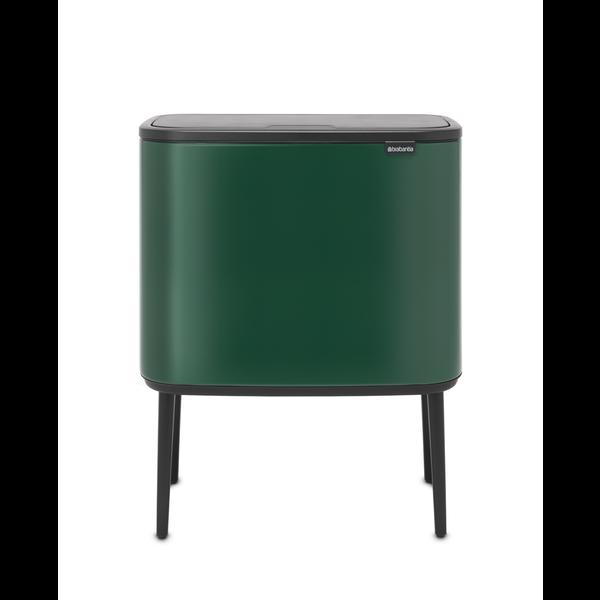 Brabantia Bo Touch Bin Afvalemmer - 11 + 23 liter - Pine Green