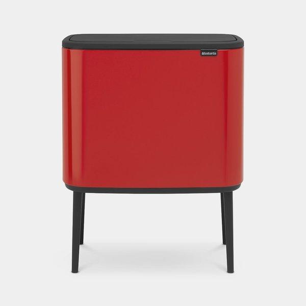 Brabantia Bo Touch Bin Afvalemmer - 3 x 11 liter - Passion Red