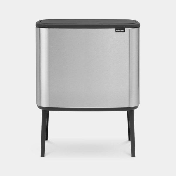 Brabantia Bo Touch Bin Afvalemmer - 3 x 11 liter - Matt Steel Fingerprint Proof