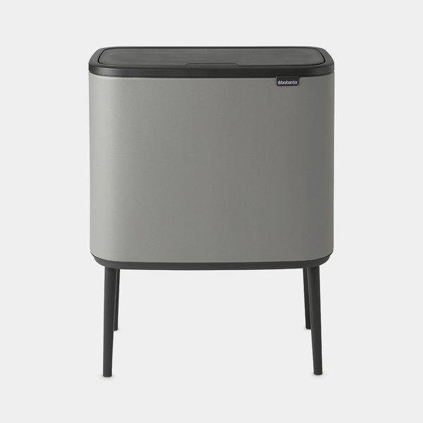 Brabantia Bo Touch Bin Afvalemmer - 3 x 11 liter - Mineral Concrete Grey