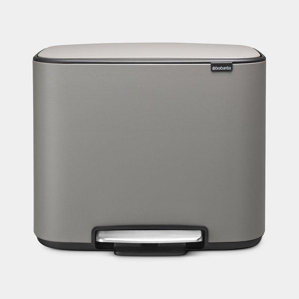 Brabantia Bo Pedaalemmer - 36 liter - Mineral Concrete Grey