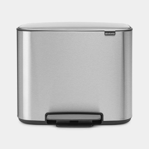 Brabantia Bo Pedaalemmer - 3 x 11 liter - Matt Steel Fingerprint Proof