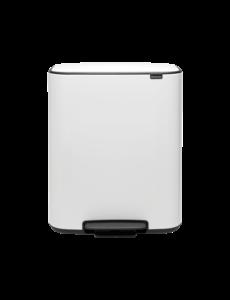 Brabantia Bo Hi Pedaalemmer - 60 liter - White