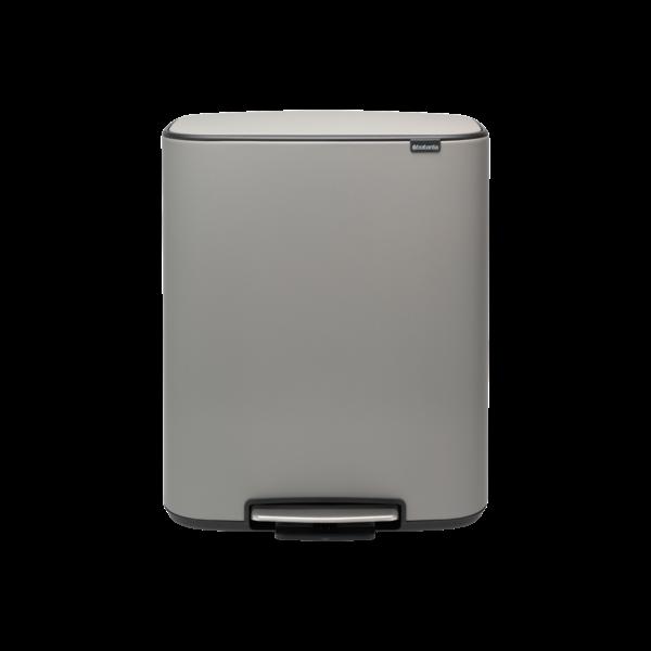 Bo Hi Pedaalemmer - 60 liter - Mineral Concrete Grey