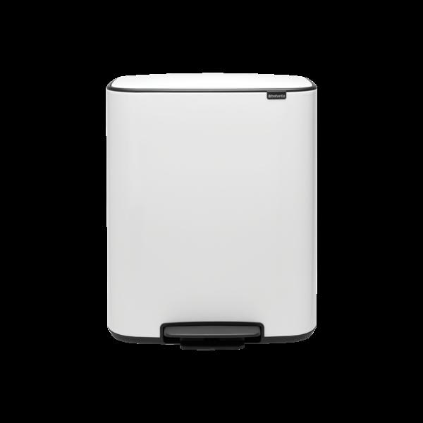 Brabantia Bo Hi Pedaalemmer - 2 x 30 liter - White