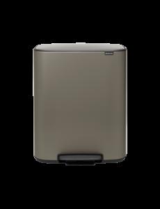 Brabantia Bo Hi Pedaalemmer - 2 x 30 liter - Platinum