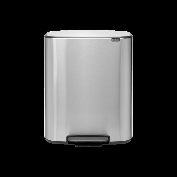 Brabantia Bo Hi Pedaalemmer - 2 x 30 liter - Matt Steel Fingerprint Proof