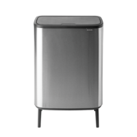 Bo Touch Bin Hi Afvalemmer - 60 liter - Matt Steel Fingerprint Proof