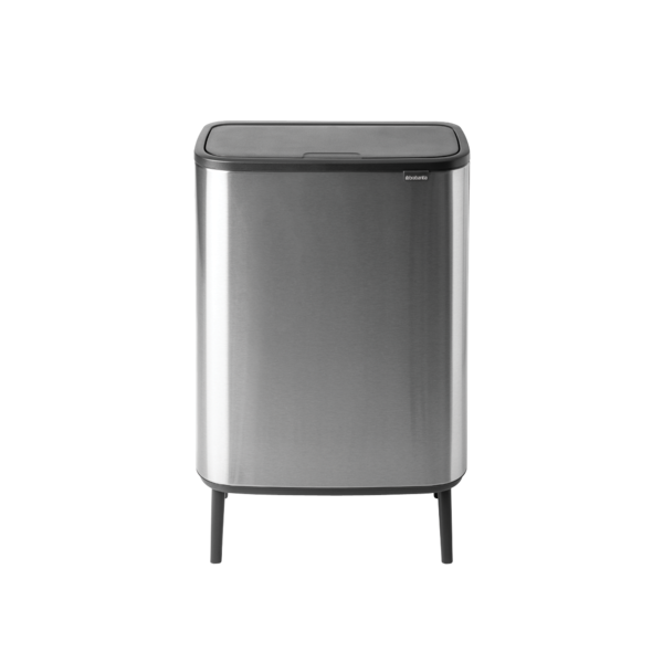 Brabantia Bo Touch Bin Hi Afvalemmer - 60 liter - Matt Steel Fingerprint Proof