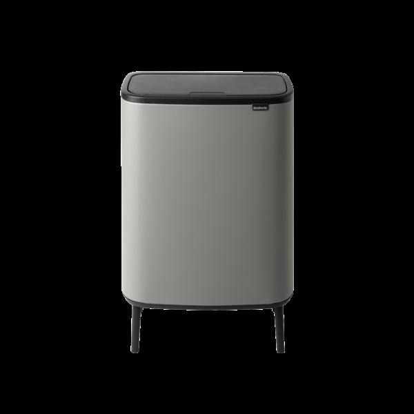 Brabantia Bo Touch Bin Hi Afvalemmer - 60 liter - Mineral Concrete Grey