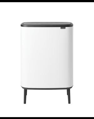 Brabantia Bo Touch Bin Hi Afvalemmer - 2 x 30 liter - White