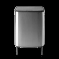 Bo Touch Bin Hi Afvalemmer - 2 x 30 liter - Matt Steel Fingerprint Proof