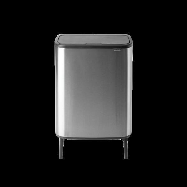 Brabantia Bo Touch Bin Hi Afvalemmer - 2 x 30 liter - Matt Steel Fingerprint Proof