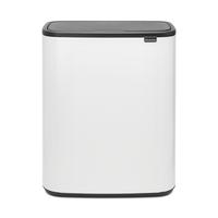 Bo Touch Bin Afvalemmer - 2 x 30 liter - White