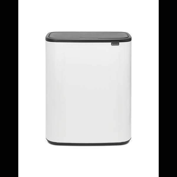 Brabantia Bo Touch Bin Afvalemmer - 2 x 30 liter - White