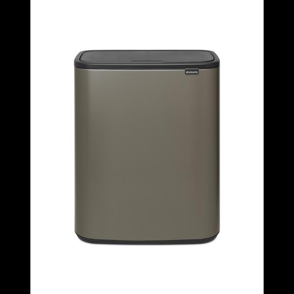 Brabantia Bo Touch Bin Afvalemmer - 2 x 30 liter - Platinum