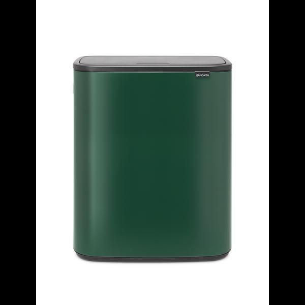 Brabantia Bo Touch Bin Afvalemmer - 2 x 30 liter - Pine Green