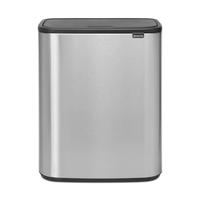 Bo Touch Bin Afvalemmer - 2 x 30 liter -Matt Steel Fingerprint Proof