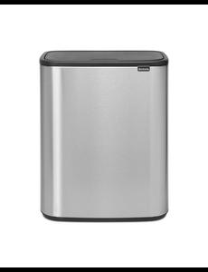 Brabantia Bo Touch Bin Afvalemmer - 2 x 30 liter -Matt Steel Fingerprint Proof