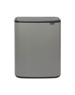 Brabantia Bo Touch Bin Afvalemmer - 2 x 30 liter - Mineral Concrete Grey