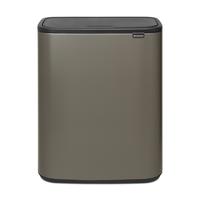 Bo Touch Bin Afvalemmer - 60 liter - Platinum