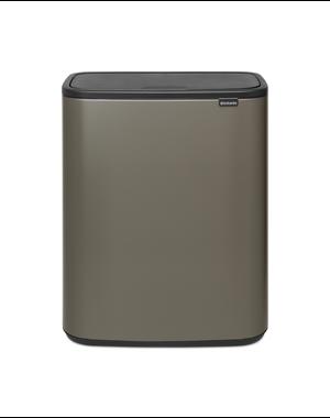 Brabantia Bo Touch Bin Afvalemmer - 60 liter - Platinum