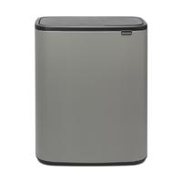 Bo Touch Bin Afvalemmer - 60 liter - Mineral Concrete Grey