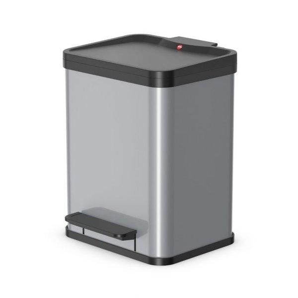 Hailo Oko Uno Plus Pedaalemmer - 17 liter - Grijs