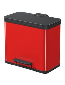 Hailo Oko Duo Plus Pedaalemmer - 9 + 17 liter - Rood