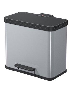 Hailo Oko Duo Plus Pedaalemmer - 9 + 17 liter - Grijs