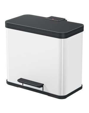 Hailo Oko Duo Plus Pedaalemmer - 9 + 17 liter - Wit
