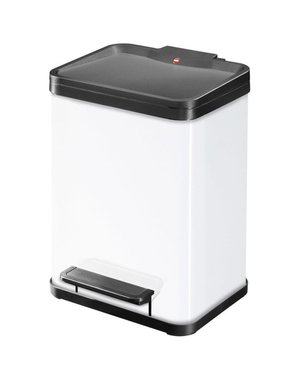 Hailo Oko Duo Plus Pedaalemmer - 9 + 9 liter - Wit