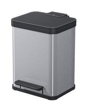 Hailo Oko Duo Plus Pedaalemmer - 9 + 9 liter - Grijs