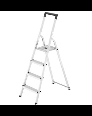 Hailo L40 huishoudtrap - 4 treden - Aluminium