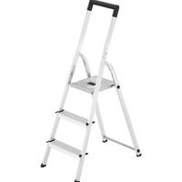 L40 huishoudtrap - 3 treden - Aluminium