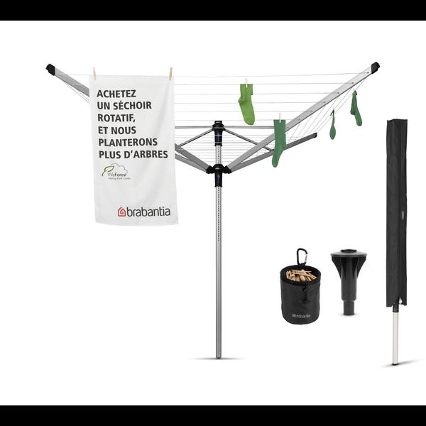 Brabantia Droogmolen Lift O Matic  Advance 50 meter, Incl. betonanker beschermhoes en wasknijpertas