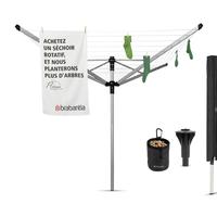Droogmolen Lift-O-Matic Advance - 60m - incl. betonanker,beschermhoes en wasknijpertasje