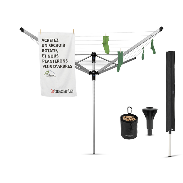 Brabantia Brabantia Droogmolen Lift-O-Matic Advance - 60m - incl. betonanker,beschermhoes en wasknijpertasje