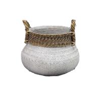 Basket Bamboo White - (D)58 x (H)40 cm