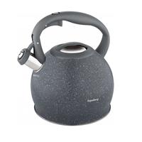 Fluitketel - 3 liter - RVS - Graniet grijs