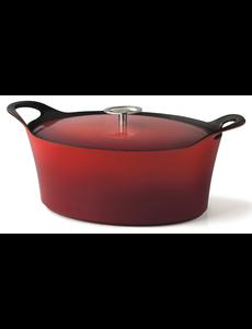 Cuisinox Braadpan - Rood - 29 cm - Gietijzer
