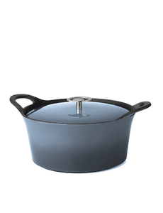 Cuisinox Braadpan - Denim Blue - 25 cm - Gietijzer