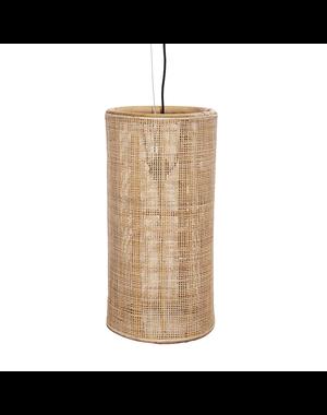 Van der Leeden Hanglamp fijn geweven bamboe - (D30 x (H)60 cm