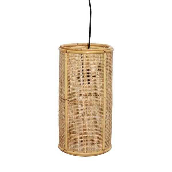 Van der Leeden Hanglamp fijn geweven bamboe- (D)20 x (H)40 cm