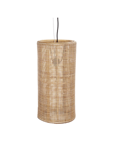 Van der Leeden Hanglamp fijn geweven bamboe - (D)40 x (H)80 cm
