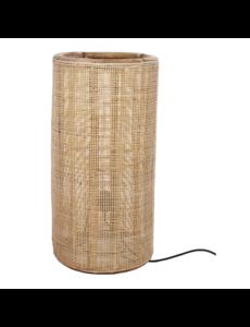 Van der Leeden Tafellamp fijn geweven bamboe - (D)30 x (H)60 cm