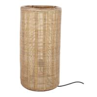 Tafellamp fijn geweven bamboe - (D)40 x (H)80 cm